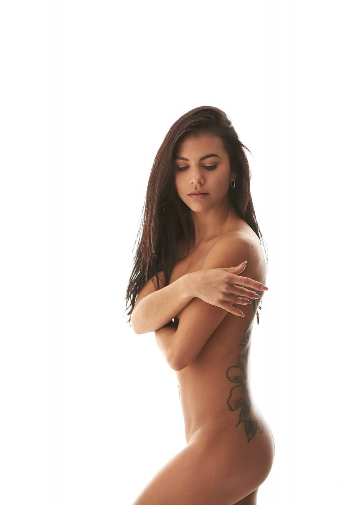 Boudoir- nude woman looking down